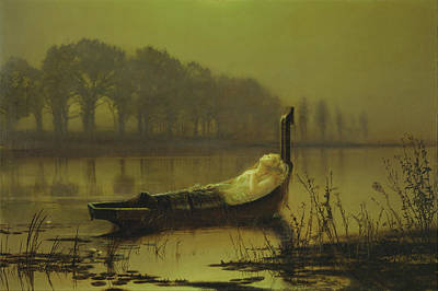Celebrity Watercolors - The Lady of Shalott by Atkinson Grimshaw
