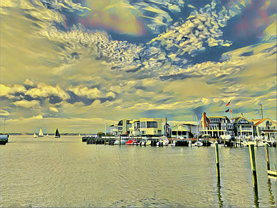 Surrealism Digital Art - The Lagoon by Surreal Jersey Shore