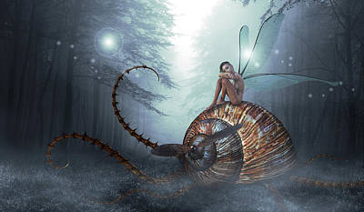 Fantasy Royalty-Free and Rights-Managed Images - The land of the snails by Mihaela Pater