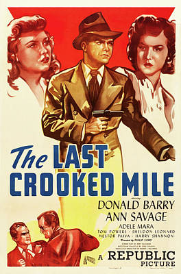 Travel - The Last Crooked Mile, with Donald Barry and Ann Savage, 1946 by Stars on Art