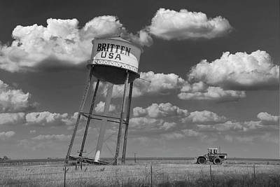 Word Signs - The Leaning Tower of Britten, Groom, Texas by Michael Chiabaudo