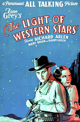 Royalty-Free and Rights-Managed Images - The Light of Western Stars, with Richard Arlen, 1930 by Stars on Art