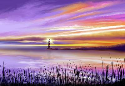 Painting - The Lighthouse by Mark Taylor