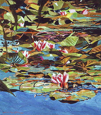 Royalty-Free and Rights-Managed Images - The Lily Pond by David Lloyd Glover