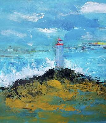 Mixed Media - The Little Lighthouse by Rose Cofield