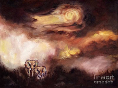Animals Paintings - The Long Walk Home by Cheryl Pettigrew