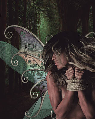 Surrealism Digital Art - The lost fairy by Mihaela Pater