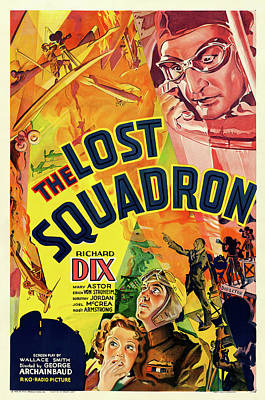 Mixed Media Royalty Free Images - The Lost Squadron, 1932 Royalty-Free Image by Stars on Art