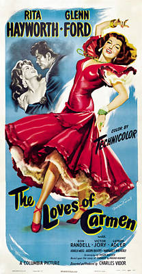 Royalty-Free and Rights-Managed Images - The Loves of Carmen, with Rita Hayworth, 1948 by Stars on Art