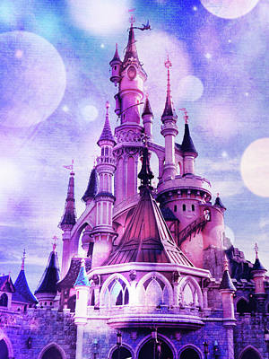 Royalty-Free and Rights-Managed Images - The Magic Disney Castle by Mihaela Pater