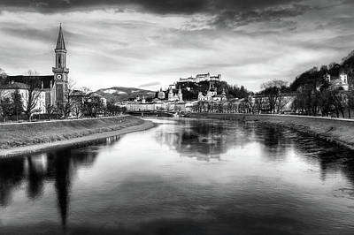Af Vogue Rights Managed Images - The Magic of Salzburg Black and White Royalty-Free Image by Carol Japp