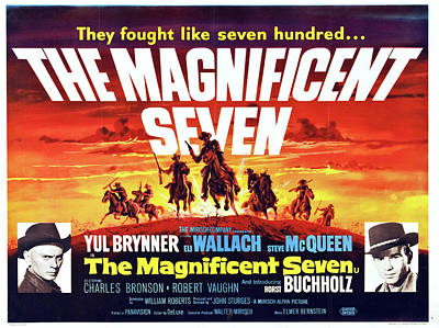 Caravaggio -  The Magnificent Seven with Yul Brynner and Eli Wallach, 1960 by Stars on Art