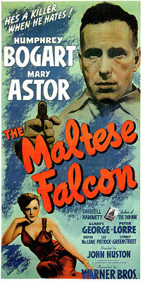 Royalty-Free and Rights-Managed Images - The Maltese Falcon movie poster 1941 by Stars on Art
