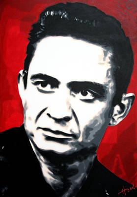 Music Paintings - The Man In Black by Sarah Hood