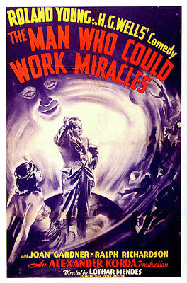 Mixed Media Royalty Free Images - The Man Who Could Work Miracles poster 1937 Royalty-Free Image by Stars on Art