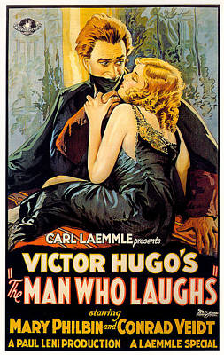 Mixed Media Royalty Free Images - The Man Who Laughs 1928 movie poster Royalty-Free Image by Stars on Art