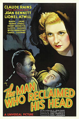 Halloween Movies - The Man Who Reclaimed His Head - 1934 by Stars on Art