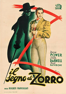Royalty-Free and Rights-Managed Images - The Mark of Zorro, 1940 by Stars on Art