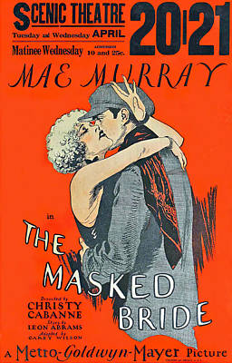 Royalty-Free and Rights-Managed Images - The Masked Bride, with Mae Murray, 1925 by Stars on Art
