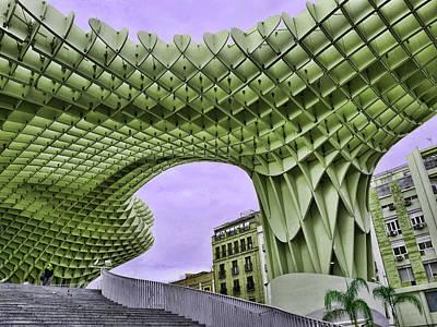Cartoons Tees - The Metropol Parosol  6 - Seville by Allen Beatty