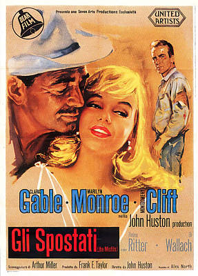 Royalty-Free and Rights-Managed Images - The Misfits, with Clark Gable and Marilyn Monroe, 1961-2 by Stars on Art
