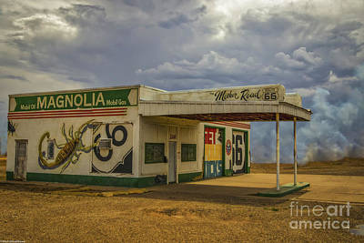 Surrealism Royalty-Free and Rights-Managed Images - The Mother Road Route 66 by Mitch Shindelbower