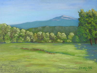 Pastel - The Mountain That Stands Alone by Carol Corliss