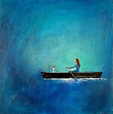 Painting - The Navigation of Time by Nancy Hilliard Joyce
