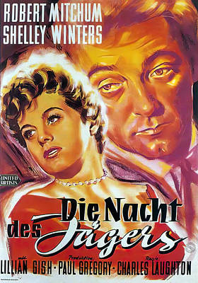 Royalty-Free and Rights-Managed Images - The Night of the Hunter, with Robert Mitchum and Shelley Winters, 1955 by Stars on Art