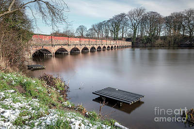 Photograph - The nineteen arches at Carr Mill Dam in St Helens, Merseyside  by Andrew George Photography