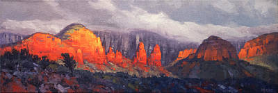 Target Threshold Watercolor - The Nuns, Sedona by Cody DeLong