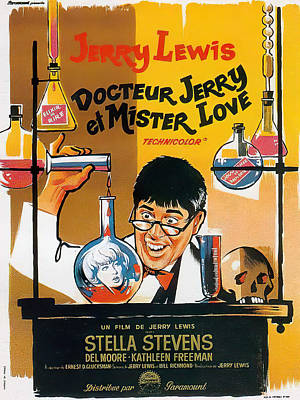 Mixed Media Royalty Free Images - The Nutty Professor, with Jerry Lewis, 1963 Royalty-Free Image by Stars on Art