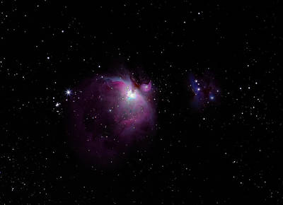 Beaches And Waves Rights Managed Images - The Orion Nebula M42 and Running Man Nebula M43 Royalty-Free Image by Martin Belan