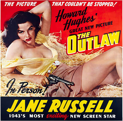 Mixed Media Royalty Free Images - The Outlaw, with Jane Russell, 1943 Royalty-Free Image by Stars on Art