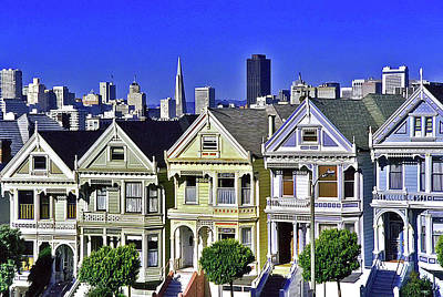 Door Locks And Handles Rights Managed Images - The Painted Ladies of San Francisco Royalty-Free Image by Allen Beatty
