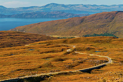 Photograph - The Pass of the Cattle, Applecross, Wester Ross by David Ross