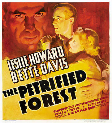 Typography Tees - The Petrified Forest, with Leslie Howard and Bette Davis, 1936 by Stars on Art