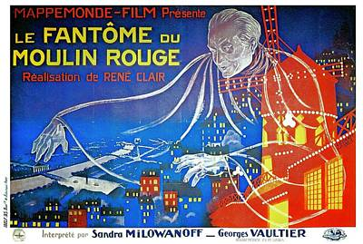 Royalty-Free and Rights-Managed Images - The Phantom of the Moulin Rouge, 1925 by Stars on Art