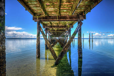 Lucille Ball - The Pier at Kayak Point l by Spencer McDonald