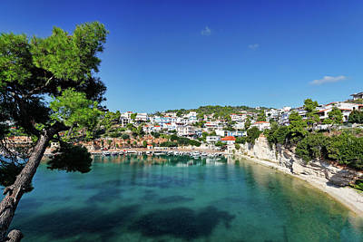 Sean Rights Managed Images - The port at Votsi of Alonissos, Greece Royalty-Free Image by Constantinos Iliopoulos
