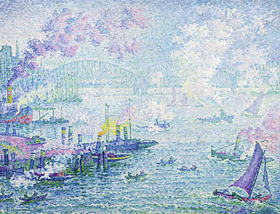 Grace Kelly - The Port of Rotterdam by Paul Victor Signac