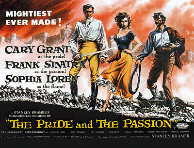 Mixed Media Royalty Free Images - The Pride and the Passion, with Cary Grant and Sophia Loren, 1957 Royalty-Free Image by Stars on Art