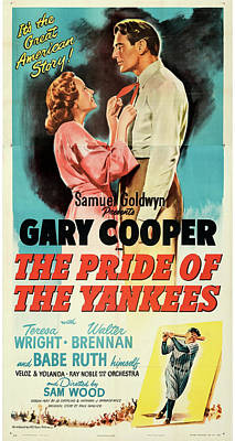 Royalty-Free and Rights-Managed Images - The Pride of the Yankees poster 1942 by Stars on Art