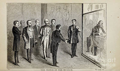 Drawings Royalty Free Images - THE PRINCE IN THE MUSEUM,i Royalty-Free Image by Historic illustrations