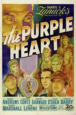 Royalty-Free and Rights-Managed Images - The Purple Heart, 1944 by Stars on Art