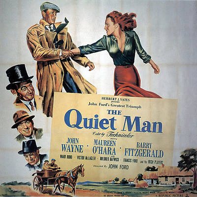 Royalty-Free and Rights-Managed Images - The Quiet Man, with John Wayne and Maureen Ohara, 1952 by Stars on Art