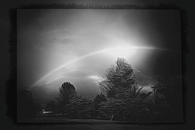 Surrealism Royalty-Free and Rights-Managed Images - The Rare Black And White Rainbow by Jim Love