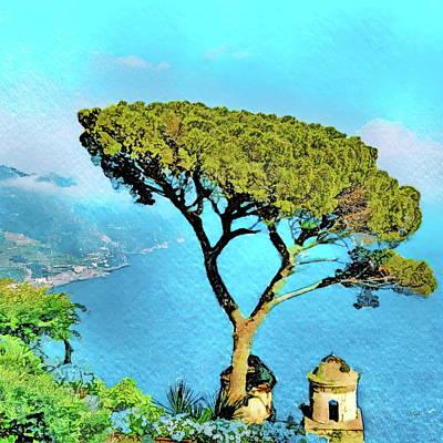 Painting - The Ravello Tree - Villa Rufolo Italy by Russ Harris