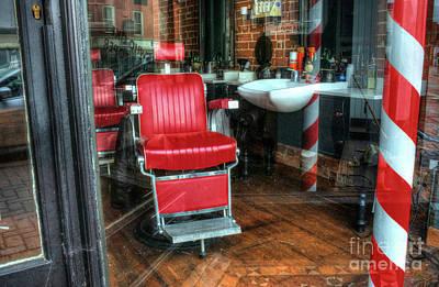 Digital Art - The Red Chair by Nigel Bangert