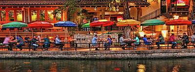 Abstract Airplane Art - The River Walk # 18 - San Antonio by Allen Beatty